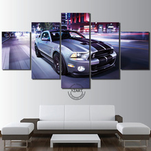 5 Piece HD Canvas Art Painting – American Muscle Ford Mustang Shelby GT500 Super Snake C5V4