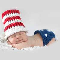 Cute Baby Boy Girl Hats Knitted Clothes Set Newborn Baby Photography Props Infant Photo Shooting Baby