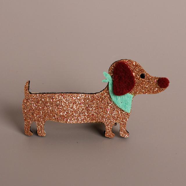 Glitter Pink Gold Dog Hair Clip