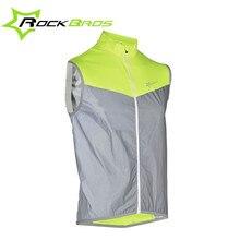 Rockbros Cycling Vest Men Women Safety Reflective Vest Pro Windproof Sport Running Vest Sleeveless Bicycle Jersey Bike Wind Coat