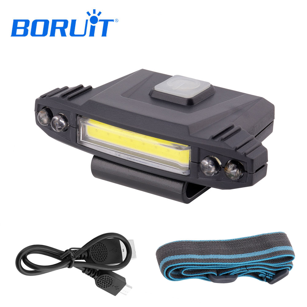 BORUIT Mini Clip Cap Hat Light LED Flashlight Portable Lantern Emergency Lamp Torch Light Headlight Headlamp Hat Head Lamp Light r3 2led super bright mini headlamp headlight flashlight torch lamp 4 models