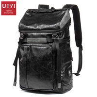 Hot PU leather Men Backpack Schoolbag Casual backpacks for women Zipper Backpack Men Travel waterproof bags original leather