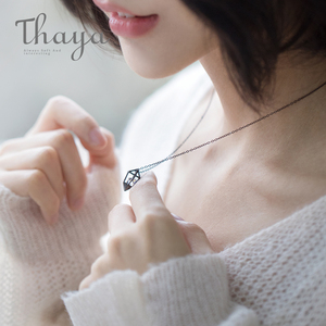 Image 4 - Thaya Diamond Heart Pendant Necklace s925 silver Black Chain Protect cubic zircon simple Dainty Jewelry for women Gift