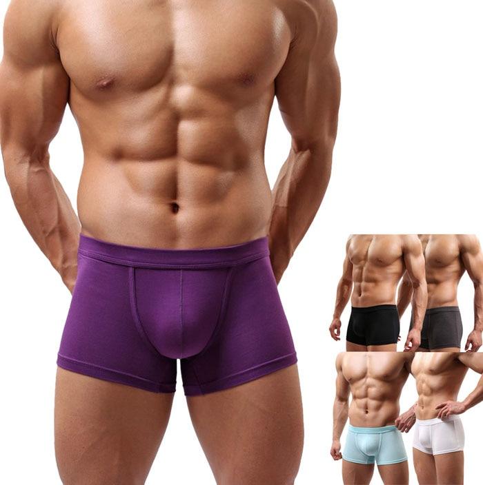 Mens Trunks Boxer Brief Shorts Underwear Bulge Pouch Bikini Swim Underpants