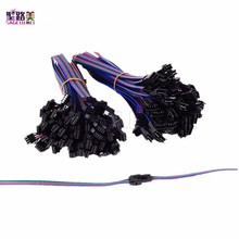 10Pair 20 pairs 50pairs 4 Pin JST SM Connector Male to Female 4pin SM Plug Connector Cable for 5050/3528 2801 8806 RGB LED Strip