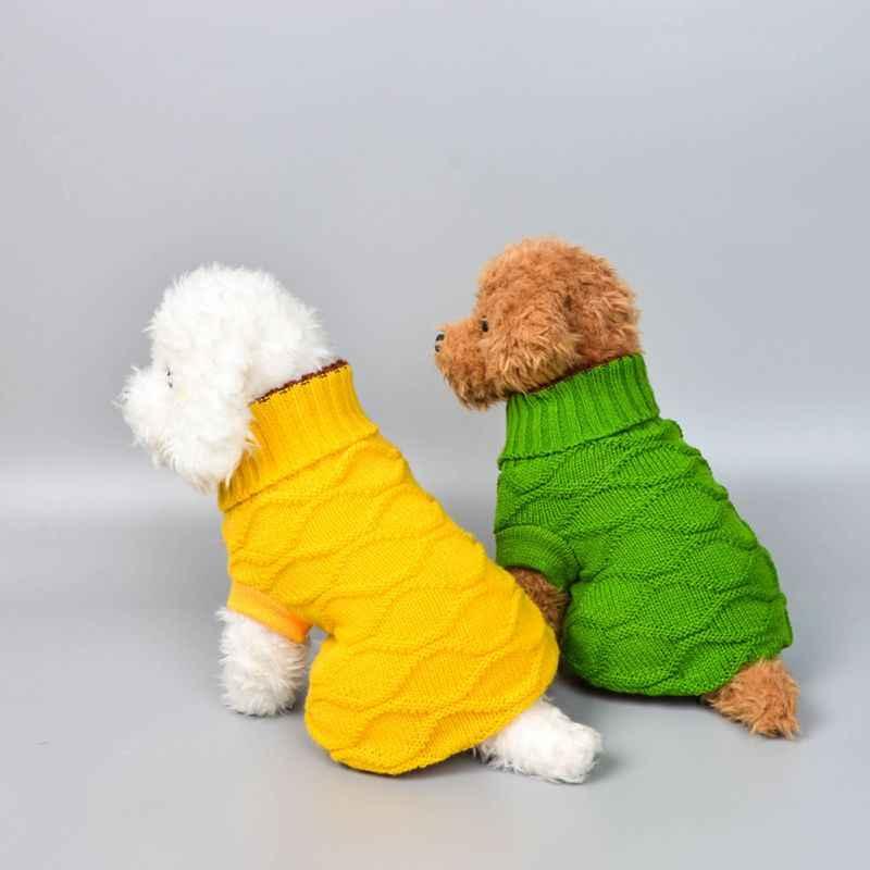 חם כלב סוודר צב צוואר באיכות גבוהה מזדמן סריגה כלב בגדי קלאסי מגשר בגדים חמוד כלב סוודר עבור קטן בינוני D