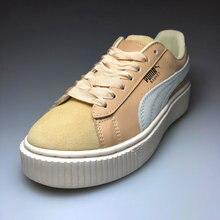 0b9f5e290de Sapatos Puma Puma originais das Mulheres x Rihanna FENTY Camurça Trepadeira  Cleated Cesta Clássico Camurça Tom