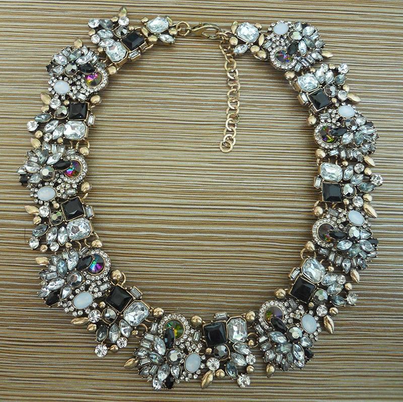 Modă de stras de cristal colier de nuntă coliere femei declarație - Bijuterii de moda - Fotografie 4