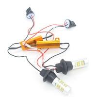 2X Headlight S25 T20 W21W WY21W 7440 42 2835 Auto Head Car LED Daytime Running Light