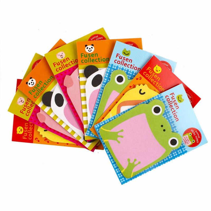 1 pièces papier mémo bloc-Notes autocollant papeterie forêt série animale mignon poste Notes autocollantes bloc-Notes étudiant fournitures de bureau