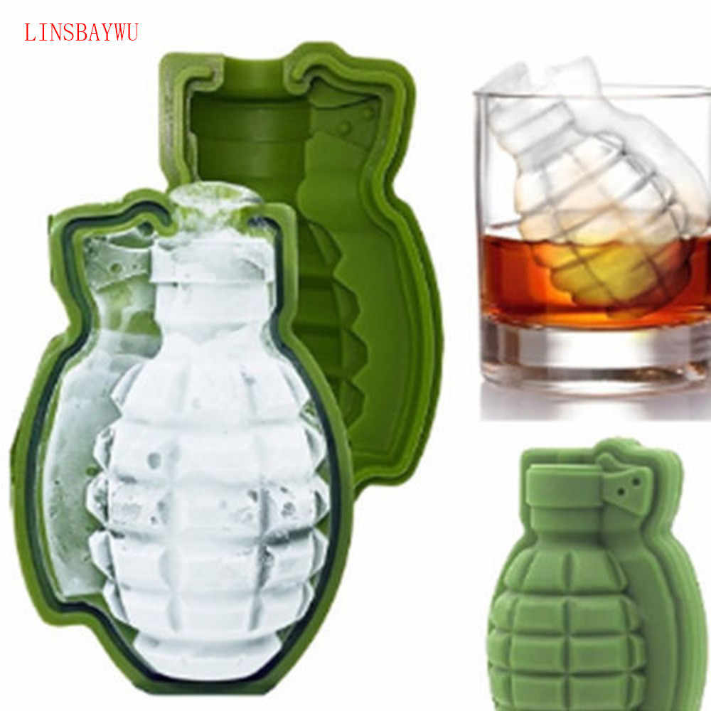 LINSBAYWU Creative 3D Grenade Shape Ice Cube Mold Silicone Cake Mold Ice Cream Trays Mold Great Bar Party Gift