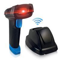 Memória usb barcode scanner a laser sem fio barcode scanner sem fio com memória de armazenamento com base