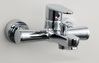 Free Shipping Bathtub Faucet Banheira Wall Mounted Single Hole Chrome Brass Lavatory Vessel Sink Faucets,Mixers & Taps BF088