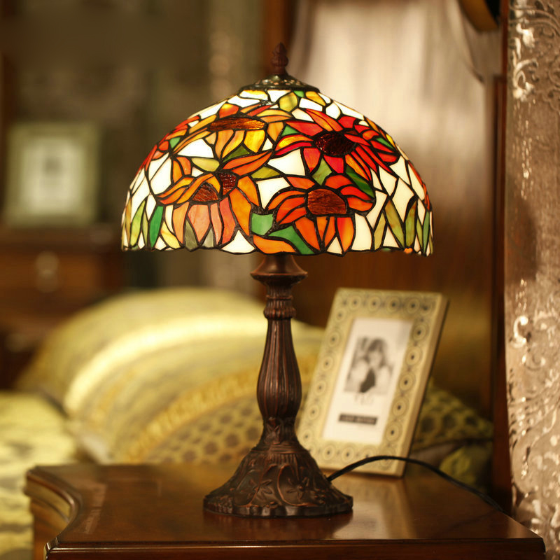 font b lighting b font 12 inch Van Gogh Tiffany lamp sunflower European bedroom bedside