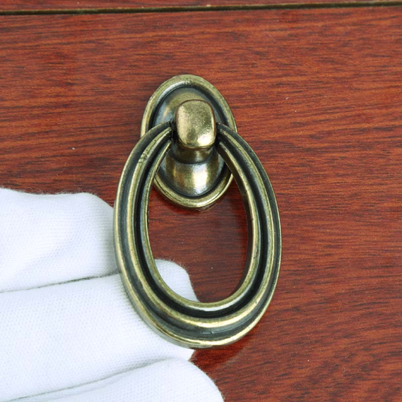 Retro Style Oval Drop Rings Furniture Small Knobs Antique