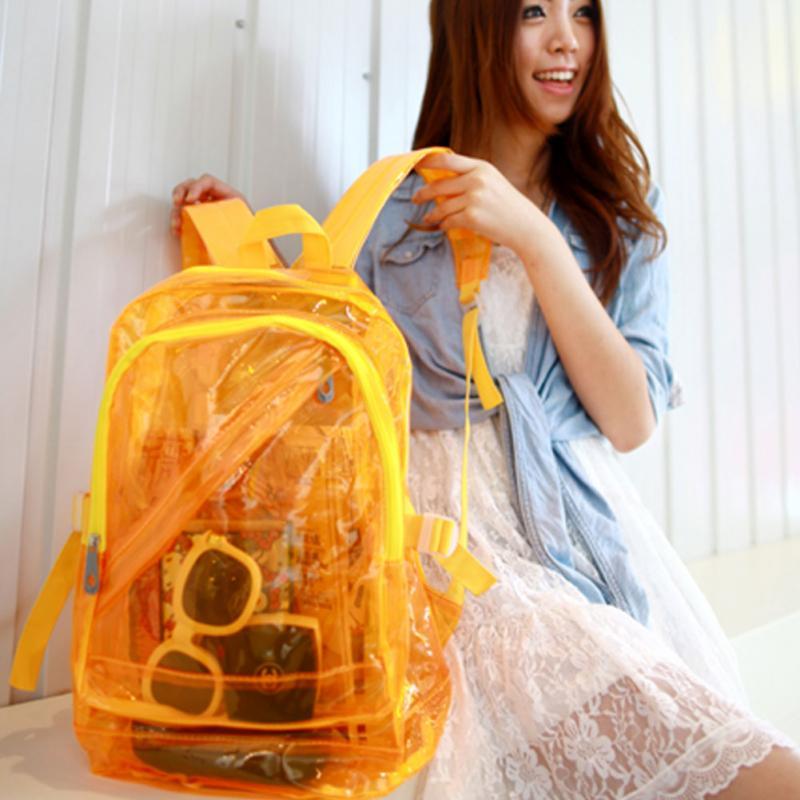 Fashion Women Backpack Transparent Travel Bag Clear School Security Backpack Book Bag Schoolbag For Student Hot Selling #0730Fashion Women Backpack Transparent Travel Bag Clear School Security Backpack Book Bag Schoolbag For Student Hot Selling #0730