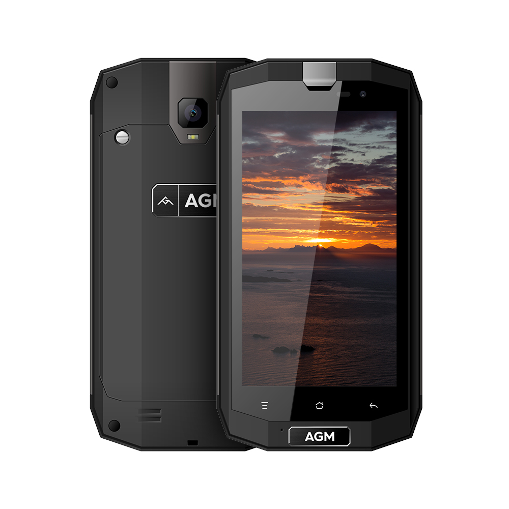 AGM A1Q 5.0 IP68 Waterproof Shockproof Rugged Mobile Phone Android 7.0 4G FDD LTE Dual SIM 4GB+64GB Quad Core 13.0MP 4050mAh