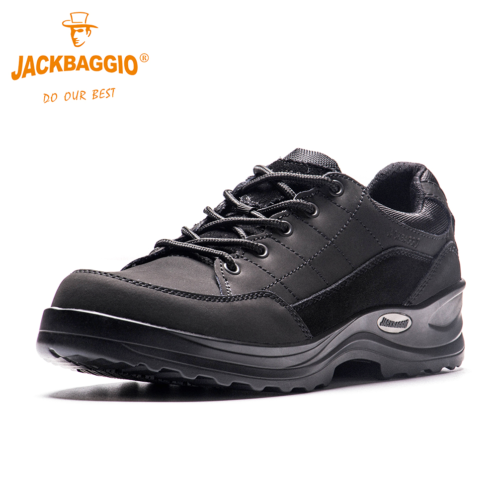 Military work shoes Fashion Man Safety shoes Anti slip Breathable Reflective Black Handsome Mens Business Shoes