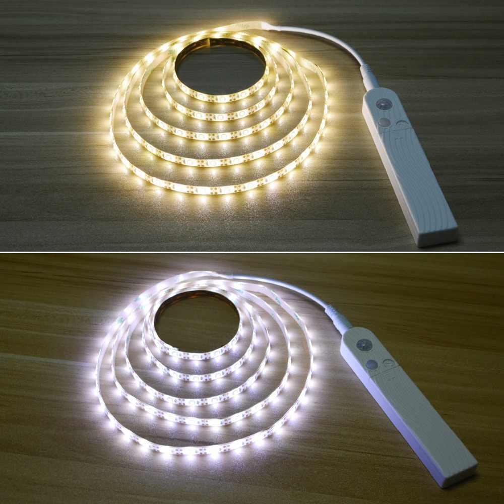 Lampu dengan Sensor Gerak Kamar Tidur Malam Lampu Nirkabel PIR MOTION SENSOR Lampu Malam untuk Lemari Pakaian Lemari Dapur Lemari Tangga Veilleuse