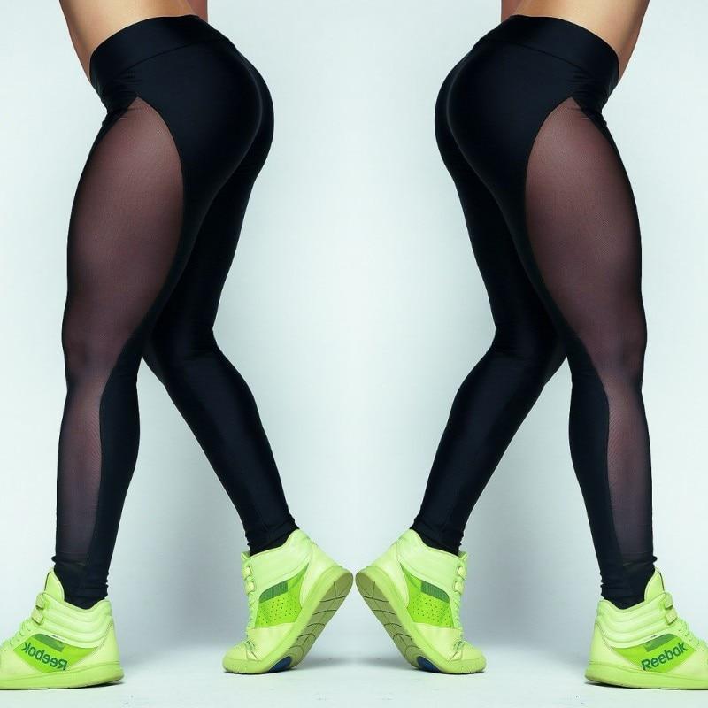 Leggings Women Net Yarn Pants Summer Women Workout Leggings Push up Sporting Leggings Mesh Transparent Elastic Skinny Fitness