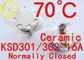 KSD302 16A 70 graus de Cerâmica 250 V Interruptor de Temperatura Do Termostato KSD301 Normalmente Fechado x 10 PCS FRETE GRÁTIS