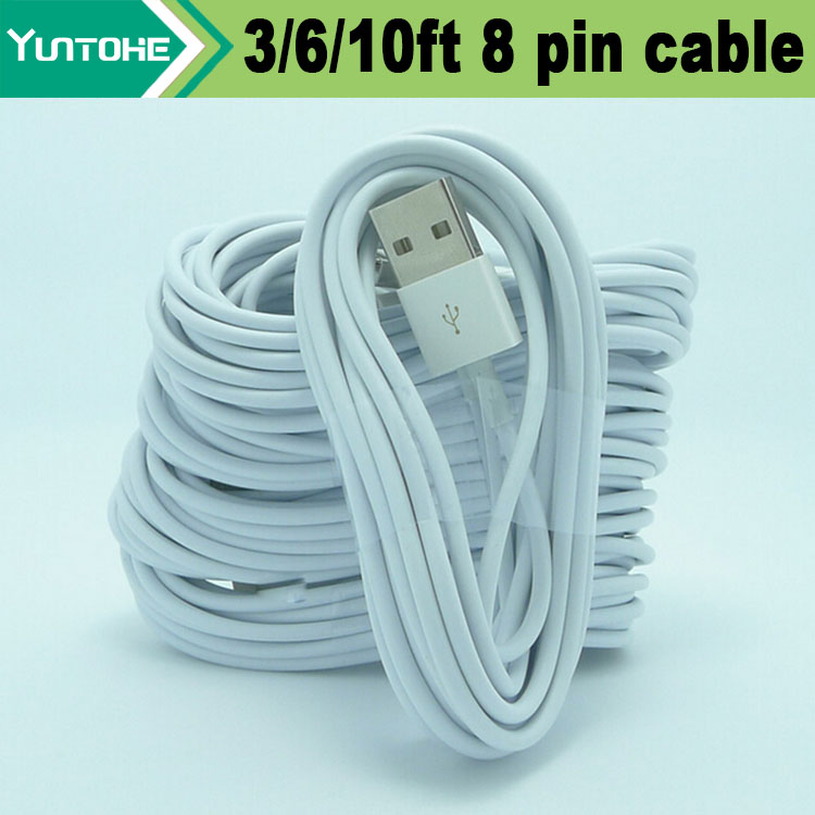 Wholesale White 1M 3ft 8 pin Data Sync Adapter Charger USB cable for iPhone Xs Max