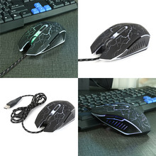 2017 New 2PCS 6 keys Wired Gaming Mouse Professional Colorful LED Backlight 4000 DPI Optical Gamer Mice Suitable For PC Laptop