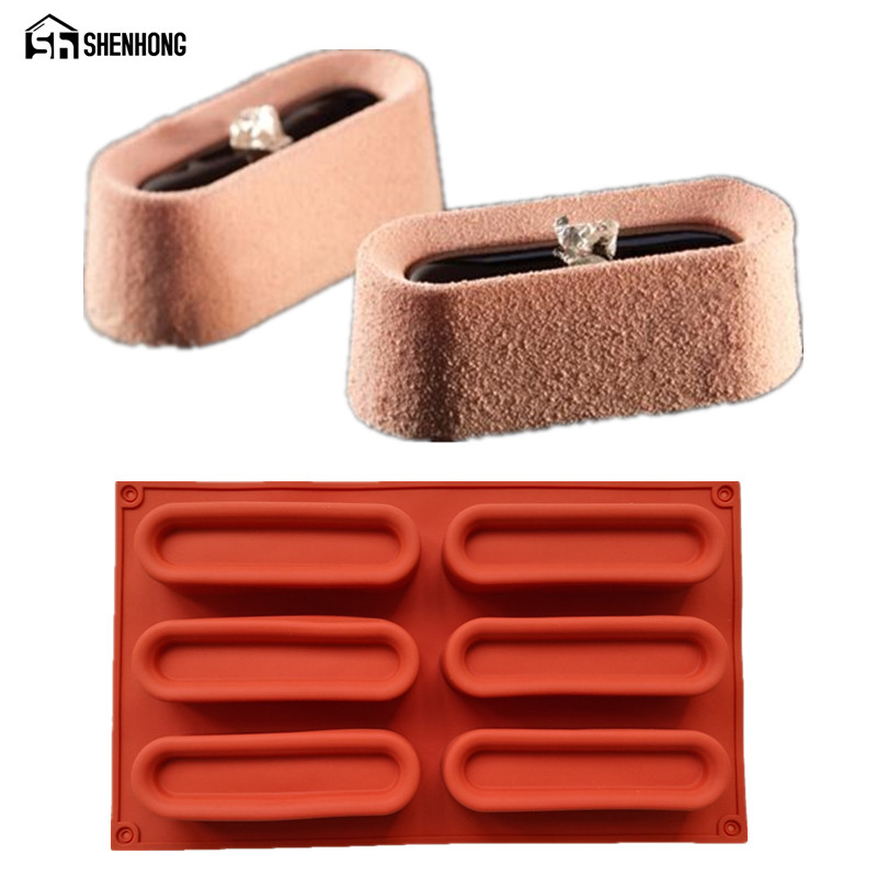 SHENHONG Cuboid Shaped Art Mousse 3D Cake Mold Silicone Chocolate Mould Pan Bakeware Dessert Moule Baking Pastry