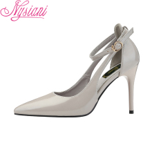2019 Summer Fashion Pointed Toe Sexy High Heels Wedding Sandals Pumps Shoes For Women Buckle Strap Thin Heels Shoes Nysiani стоимость