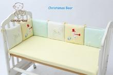 6Pc/Lot Infant Crib Bumper Bed Protector Baby Kids plush Cot Nursery bedding Christmas Bear Monkey Pilliow Cushion