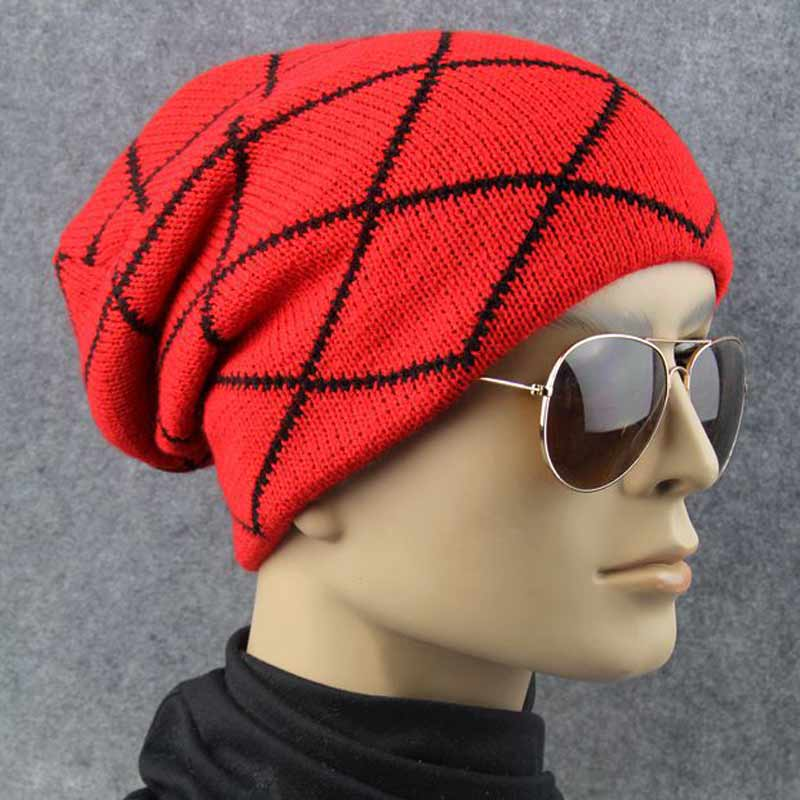 Autumn Winter Hats Knitted Skullies Beanie Hat For Women Men Casual Striped Lattice Caps Gorros Hip Hop Beanies for Men Hats winter hat casual women s knitted hats for men baggy beanie hat crochet slouchy oversized ski caps warm skullies toucas gorros
