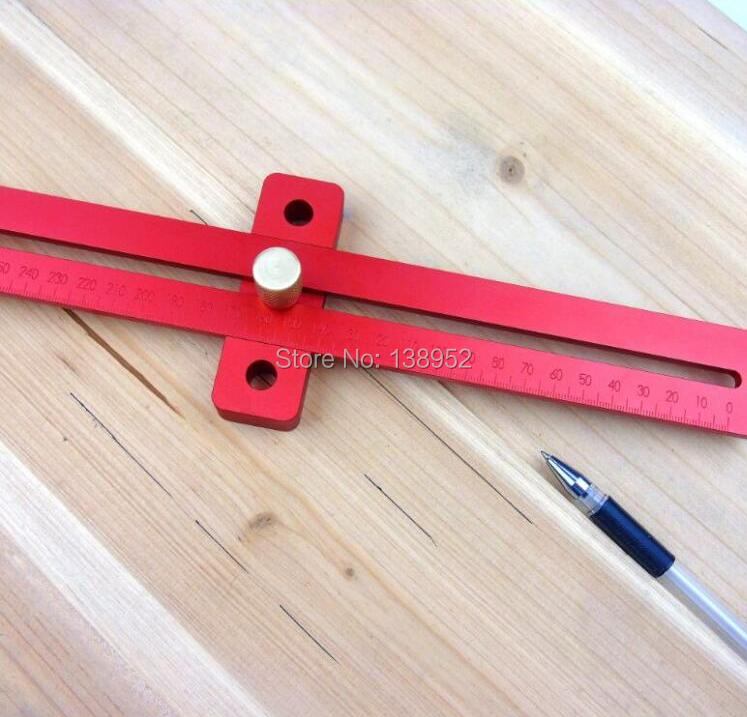 Pro Aluminium Archery T-Gauge Bow Square Bow Tuning Tool Red