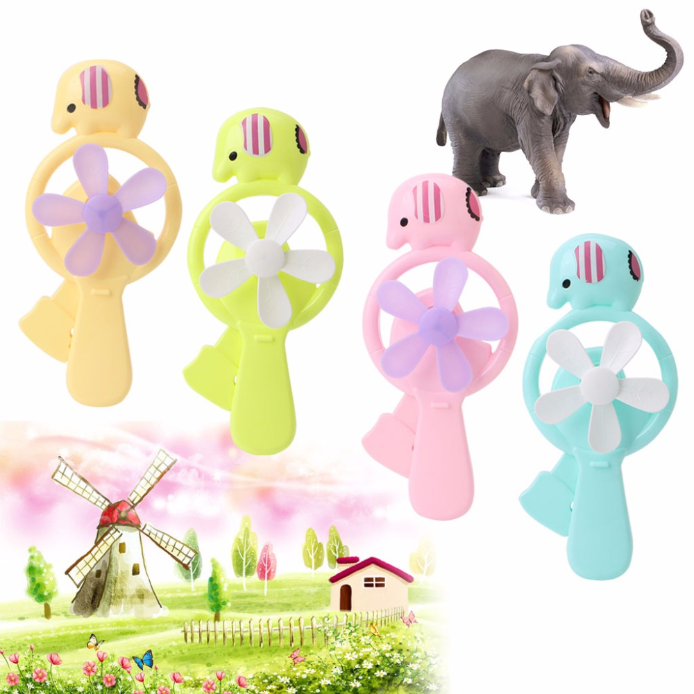 Portable Kids Toys Mini Manual Hand Fan Handheld No Battery Operated for Cooling mini handheld battery operated sewing machine for kids