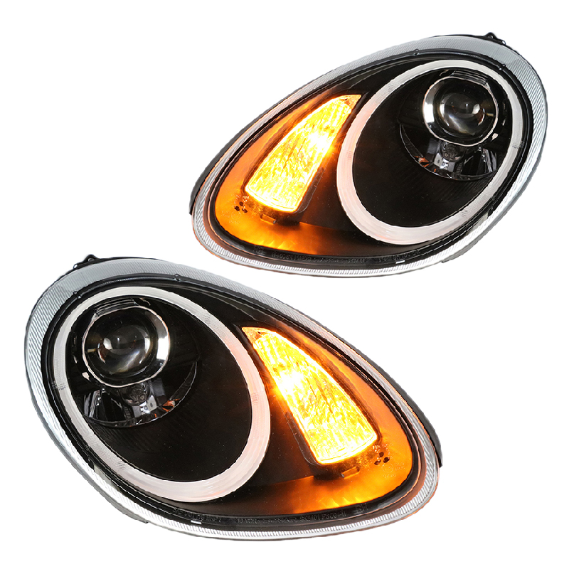 for Porsche Cayman 987 BOXSTER Headlights2004-2008 Projector lens DRL light function Amber turn light New arrival free shipping 2pc lot led lights hi q front direction indicator lamp for porsche boxster 987 up to 2008