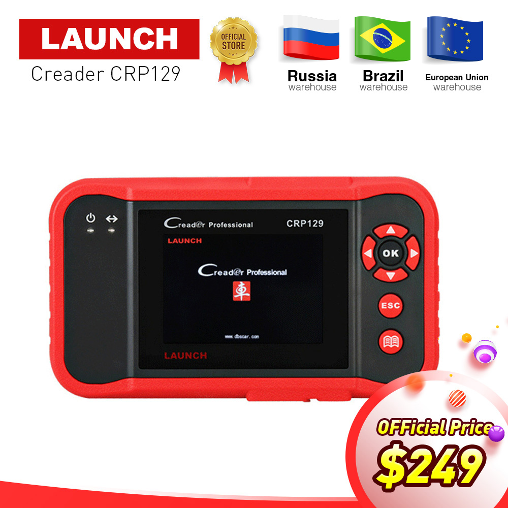 Launch X431 Creader CRP129 OBDII diagnostic font b tool b font for ENG AT ABS SRS