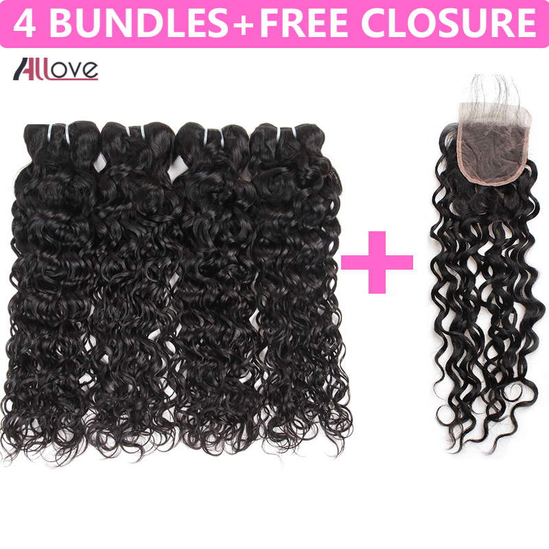 Allove Indian Water Wave Bundles 8 28Inch Human Hair Extensions Natural Black Remy Hair Weave Buy