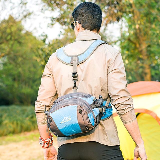 Мужчины Женщины Талия Сумка Пакет Рюкзак Разведка Путешествия Случайный Хранения Crossbody Сумка