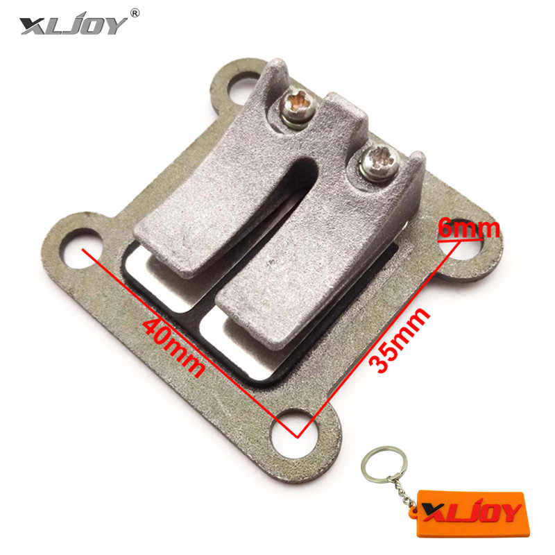 40-6 Reed High Performance Valve Block Plate For 47cc 49cc ATV Quad Dirt Pocket Bike Mini Moto 2 Stroke Go Kart Motorcycle