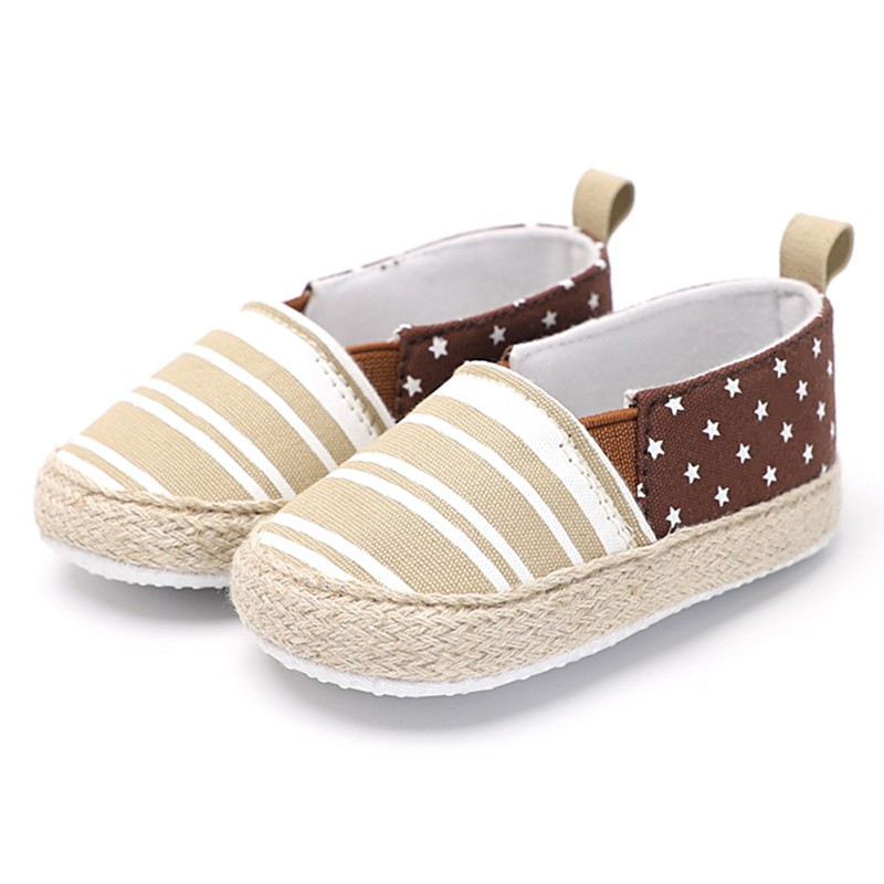 Baby Boy Girl Cotton Shoes Newborn First Walkers Pacers Baby Shoes Stripe Stars Stitch Casual Shoes