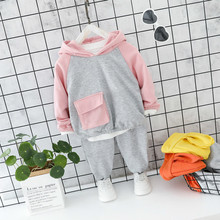 Autumn Baby Girls Clothes Children Suits Infant Casual Sport Cartoon Rabbit Hooded T Shirt Pants 2pcs/sets Kid Toddler Clothing retail black skull baby boy autumn winter sets hooded jacket pants suits 2016 infant clothes toddler clothing children outerwear