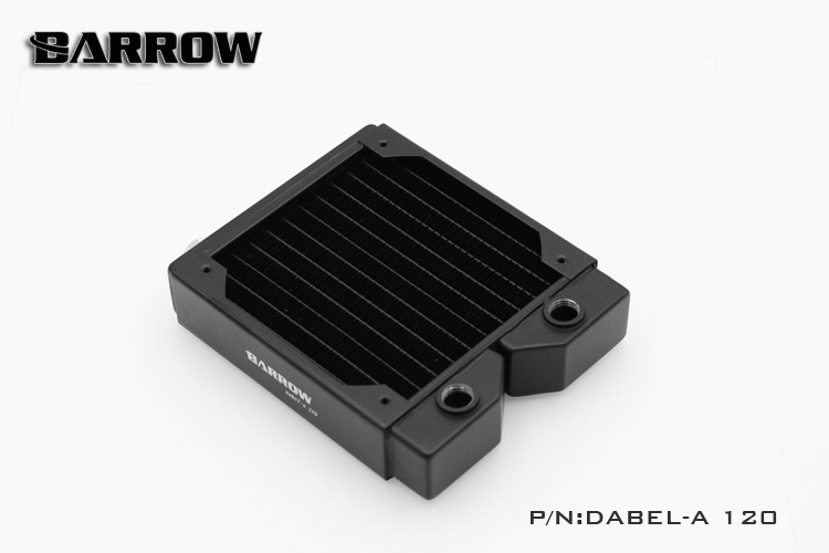 Original Barrow Dabel-a 120mm single wave brass water cooling cooler block radiator row suitable 12cm series pc fan chassis free delivery original afb1212she 12v 1 60a 12cm 12038 3 wire cooling fan r00