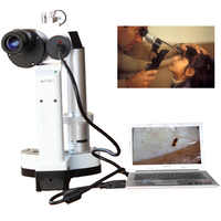 LYL-S Portable Slit Lamp LED Bulb Portable Microscope for Pet hospital ophthalmology Camera Total 10x and 16x Magnification