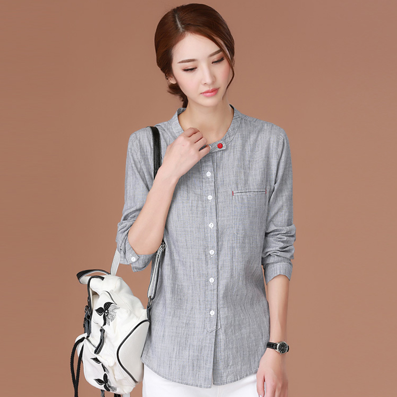 Striped Shirt Summer Tops For Women 2018 Womens Tops And Blouses Korean Clothes Long Sleeve Blouse Women Shirts Chemise Femme