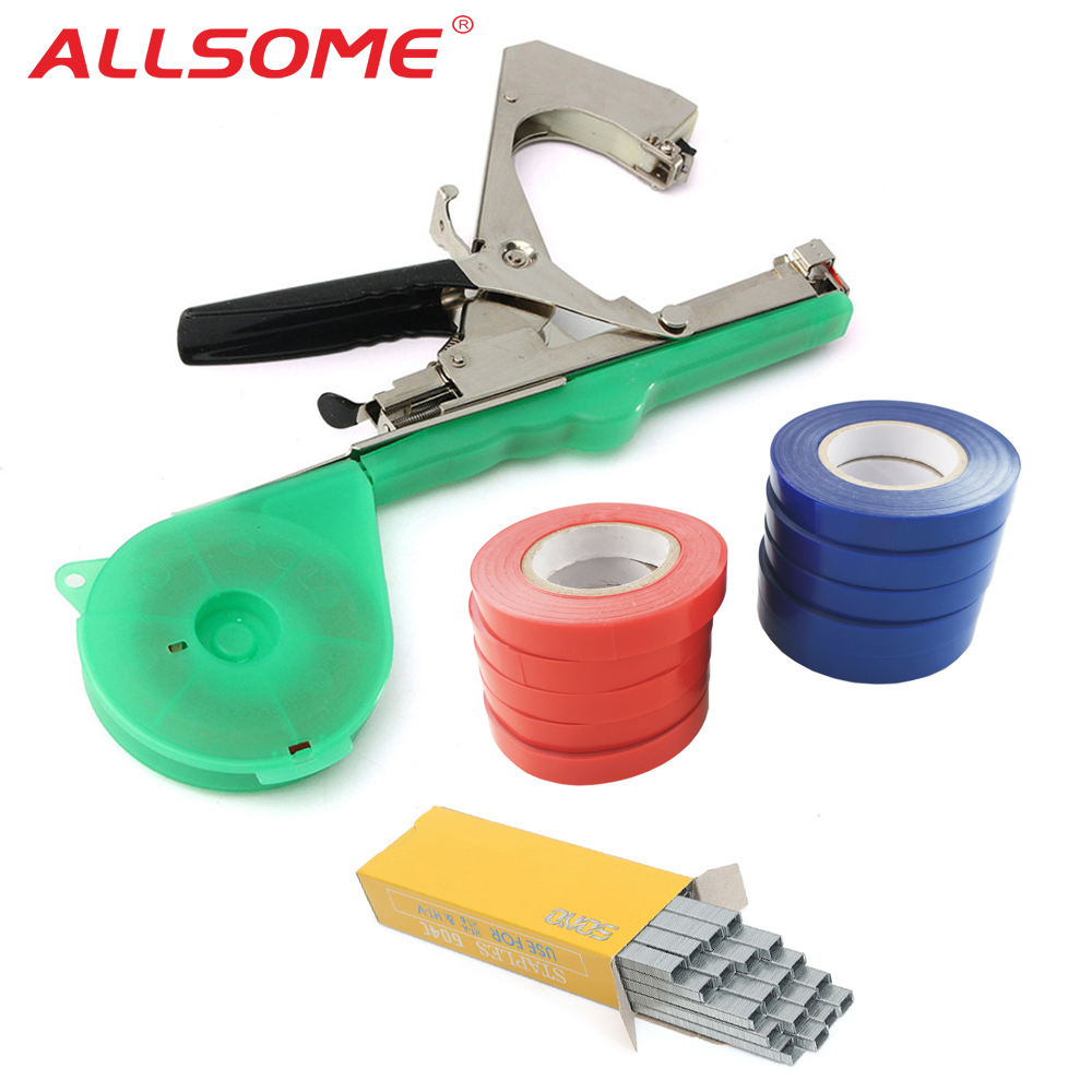 ALLSOME Garden Tools Plant Tying Tapetool Tapener Machine Branch Hand Tying Machine Tapener Packing Vegetable Stem Strapping