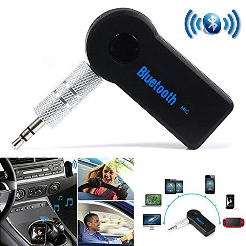 Bluetooth AUX Audio 3.5MM Jack Music Bluetooth Receiver Car Kit Wireless Speaker Headphone Adapter Hands Free For Xiaomi iPhone bc07 vehicle bluetooth audio receiver hands free adapter black