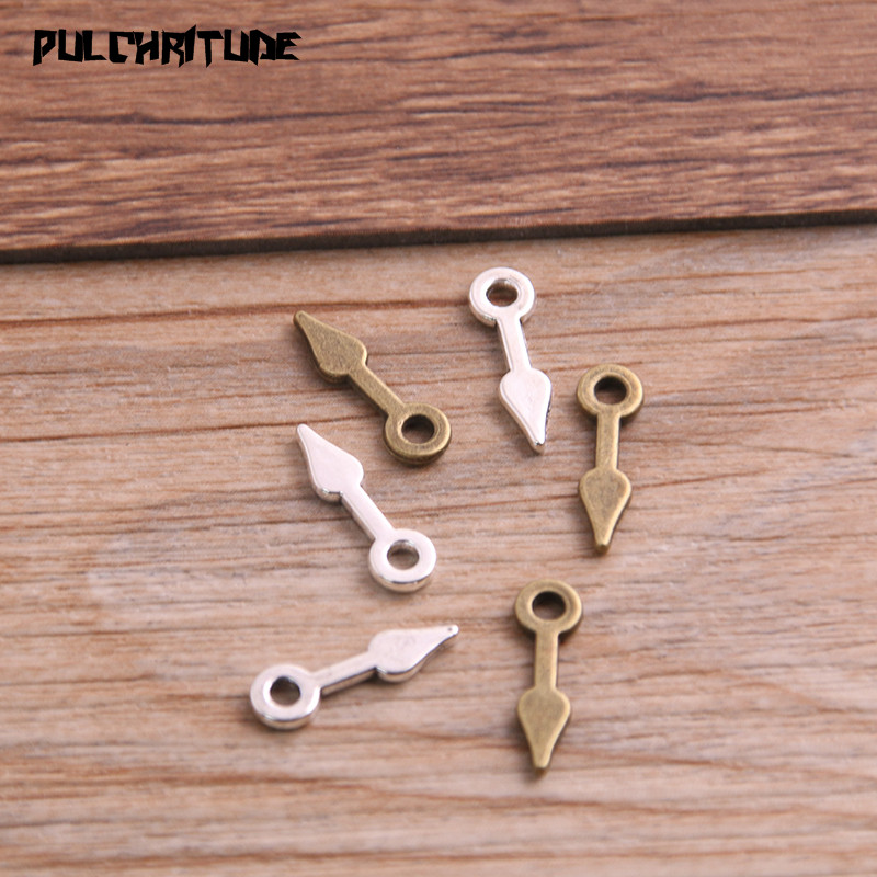 60PCS 5*16mm Two Color Vintage Metal Zinc Alloy Steampunk Pointer Charms Fit Jewelry Pendant Charms Makings 2