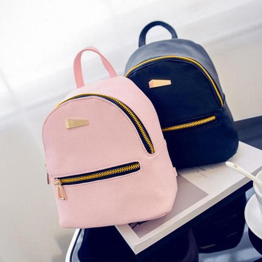 Leather Mini Backpack Girls Travel School Rucksack Bag Backbag Backpack Schoolbag For Girls Portable Shoulder Bag