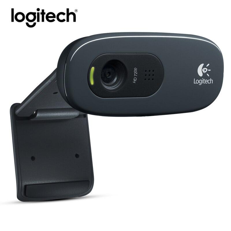 Logitech C270 HD Webcam 720 p Web Caméra Mini usb kamera Ordinateur Caméra Vidéo Web cam pour PC Portable Skype avec MIC Microphone