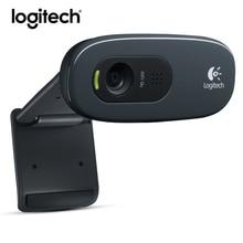 logitech C270 Webcam 720p Web Cam Usb Camera 3 Mega HD Video Webcamera for Smart tv pc Skype With MIC Micphone Original(China (Mainland))