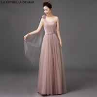 Vestido de festa longo2018 New Tulle a Line 5 style blush bridesmaid dresses pretty robe de mariee cheap gala jurken